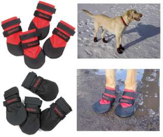 DURABLE Dog Boots Water Resistant Booties for Snow Ice Mud Wood Floor
