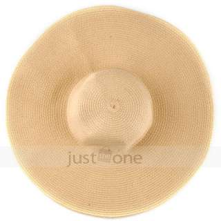 Fashion Chic Womens Ladies Wide Large Brim Summer Beach Sun Hat Straw