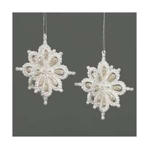 Club Pack of 12 Silver Snowflake Christmas Ornaments with
