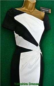 KAREN MILLEN Black White COLOURBLOCK Shift Dress  Asstd