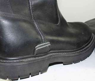 DAVIDSON BLACK LEATHER MOTORCYCLE/BIKER SLIP ON BOOTS MENS sz 7