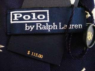 Men NWT $115 SILK TIE Ski Patrol Handmade in Italy Navy Blue
