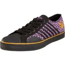 Peters DP Leopard Low Top Shoes Skate Punk Rock Gothic Emo Rave