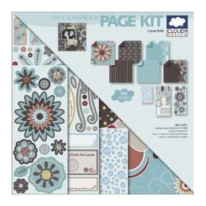 Cloud 9 Cocoa Mint 12 Inch by 12 Inch Scrapbook Page Kit Arts, Crafts