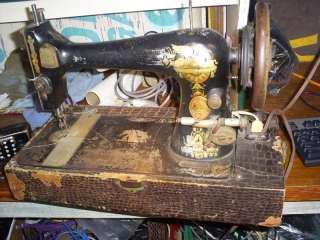 VERY OLD 1891? SINGER SEWING MACHINE + WKS