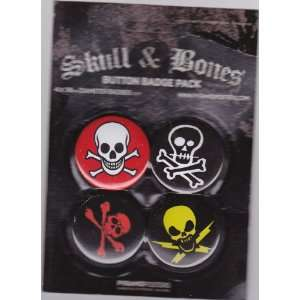 Skull and Bones, Pirate Official 4 Piece Button / Badge