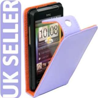 London Magic Store   PURPLE FLIP LEATHER CASE COVER II FOR HTC HD MINI