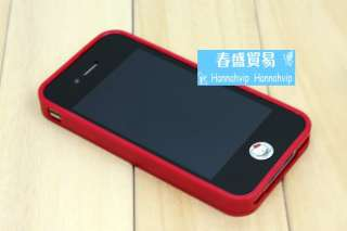 NEW Red Silicon TPU Case Cover Skin Bag Accessory for Apple Iphone 4