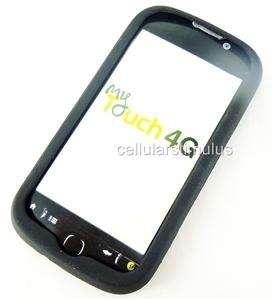 New T Mobile MyTouch 4G/HD Premium Black Gel Skin Case Cover+Screen