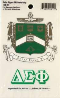 Delta Sigma Phi Crest and Letters Stickers / Decal