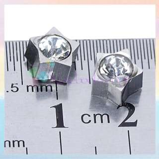 Style Unisex Magnet Magnetic Star Ear Stud Clip On Earring No Piercing