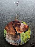 GERMAN SHORT HAIRED POINTER CHRISTMAS TREE ORNAMENT