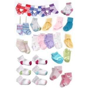 Club Pack   25 Pairs of Multi Color Baby Socks 0 36 Months