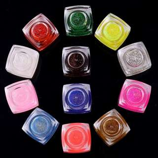 12 Mix Color Nail Art UV Gel Builder Acrylic Set Tips