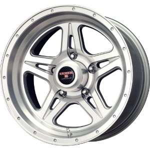 Level 8 Strike 5 Matte Silver Machined Wheel (17x9