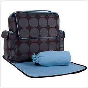 Black/char/turquois Dot Messenger Bag By Oioi Baby Baby