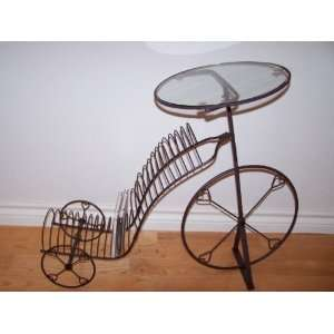 Media CD Storage Rack Holder Antique Tricycle: Electronics