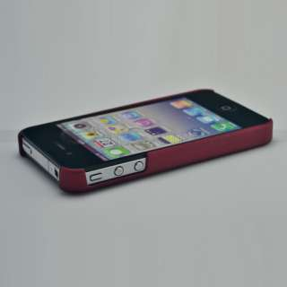New Red HARD CASE COVER FOR APPLE IPHONE 4 4G S 4S 4GS + Free Screen