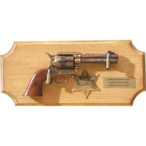 SHERIFFS COLLECTION FRAMED SET NON FIRING REPLICA GUN