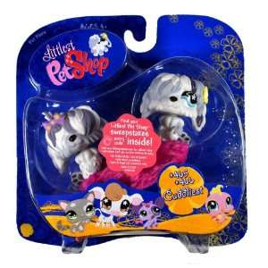 Sheep Dog with Purple Bow Tie (#465) and Sheepdog with Yellow Flower