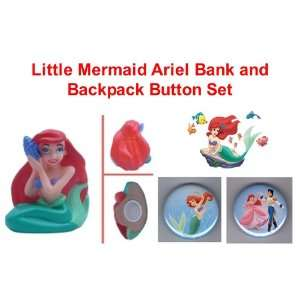 Unique Little Mermaid Princess Ariel 4 Piggy Bank and Set