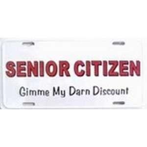Senior Citizen Discount License Plates Plate Tag Tags auto vehicle car