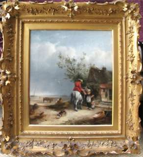 JOHN WILSON (1774 1845) RARE SCOTTISH OIL   COASTAL SCENE   SIGNED