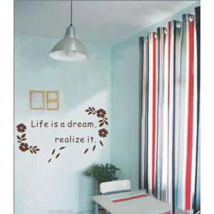 Easy instant decoration wall sticker life is a dream