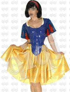 Latex (rubber) Snow White Uniform  0.45mm suit catsuit