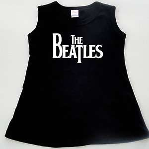 Beatles Baby Toddler Girl T Shirt Black Dress Creeper Romper One piece