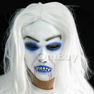 description deluxe scary demon monster latex full head mask with