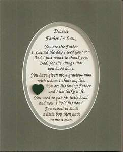 FATHERs IN LAW Dads GRACIOUS MAN verses poems plaques