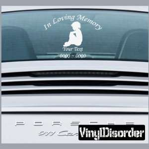 Loving Memory Custom Car or Wall Vinyl Decal Stickers: Everything Else