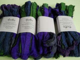 Crystal Palace TUTU Yarn 1 Wide Ribbon Violet/Green Spiral Scarf