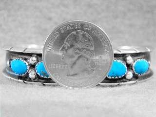 Navajo Bracelet Sterling Silver Sleeping Beauty Turquoise Sale