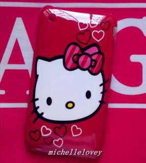 New Cute Cartoon Hello Kitty Back Cover Case for iPhone 3g/3gs MH48