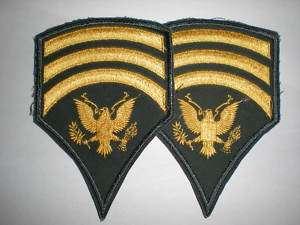US ARMY SPECIALIST 7 RANK PRE 1966 CUT EDGED  1 PAIR