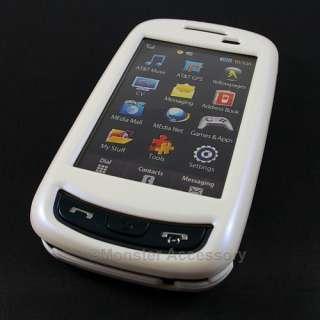 The Samsung Impression A877 White Hard Case Cover provides the