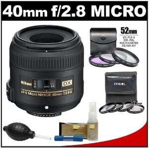 DX AF S Micro Nikkor Lens + 7 UV/FLD/CPL & Close up Filters + Nikon