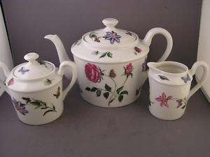 Limoges tea set peint a la main limoge france - Jardin mediterraneen limoges ...