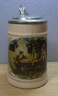 Vintage German Lidded Beer Stein Black Forest # CD