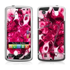 Pink Splatter Design Protective Skin Decal Sticker for LG Samba LG8575