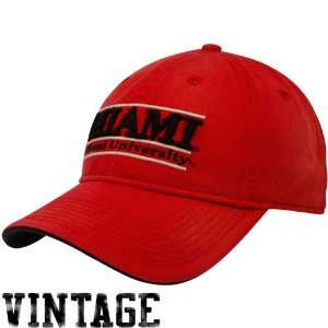 The Game Miami University RedHawks Red Sanded Bar Vintage