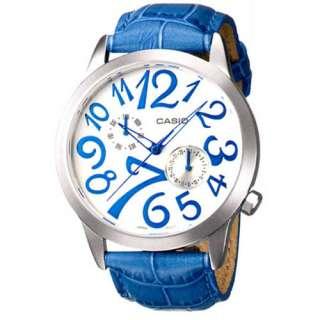 Casio LTF 116L 2A Fashion Multiband Analog Womens Watch, Blue Leather