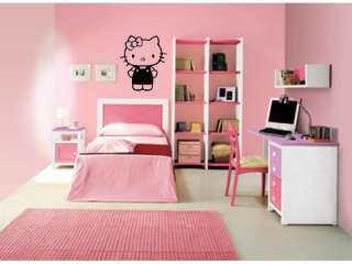HELLO KITTY Girls Bedroom Baby Nursery Wall Decal