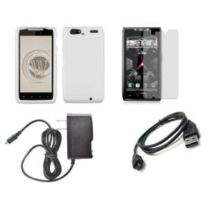 (Verizon) Premium Combo Pack   White Shield Hard Case Cover + ATOM