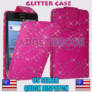 4G I997 PINK DIAMOND GLITTER LEATHER FLIP POUCH CASE COVER