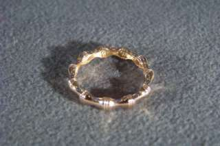SILVER ROSE GOLD BAMBOO ETERNITY BAND RING 11 ITALY