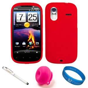 Red Rubberized Soft Silicone Protective Skin Cover for T