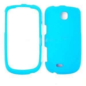 Samsung Dart T499 Fluorescent Solid Light Blue Hard Cover Case Snap On